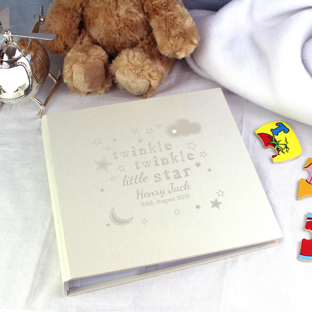 Personalised Twinkle Twinkle Album with Sleeves - Under A Rainbow