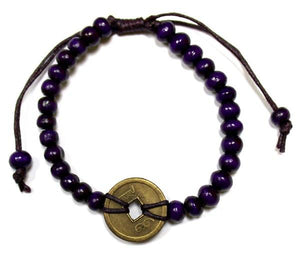 Good Luck Feng-Shui Bracelets - Purple - Under A Rainbow