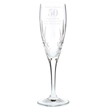 Load image into Gallery viewer, Personalised Big Age Cut Crystal Champagne Flute