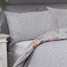 Load image into Gallery viewer, BLUSHING ROSE DUVET SET - GREY