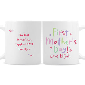 Personalised Happy First Mother's Day Mug