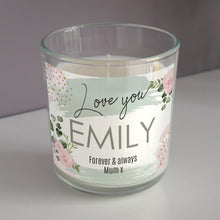 Load image into Gallery viewer, Personalised Abstract Rose Scented Jar Candle