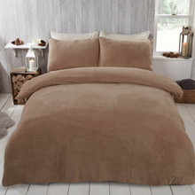Load image into Gallery viewer, TEDDY FLEECE DUVET COVER SET - LATTE
