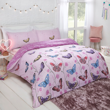 Load image into Gallery viewer, BUTTERFLY HEAVEN DUVET SET - PURPLE