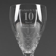 Load image into Gallery viewer, Personalised Big Age Cut Crystal Wine Glass