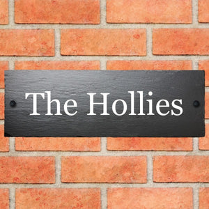 Rustic Slate House Sign 30cm x 10cm