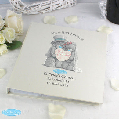 Personalised Me To You Wedding Album with Sleeves - Under A Rainbow