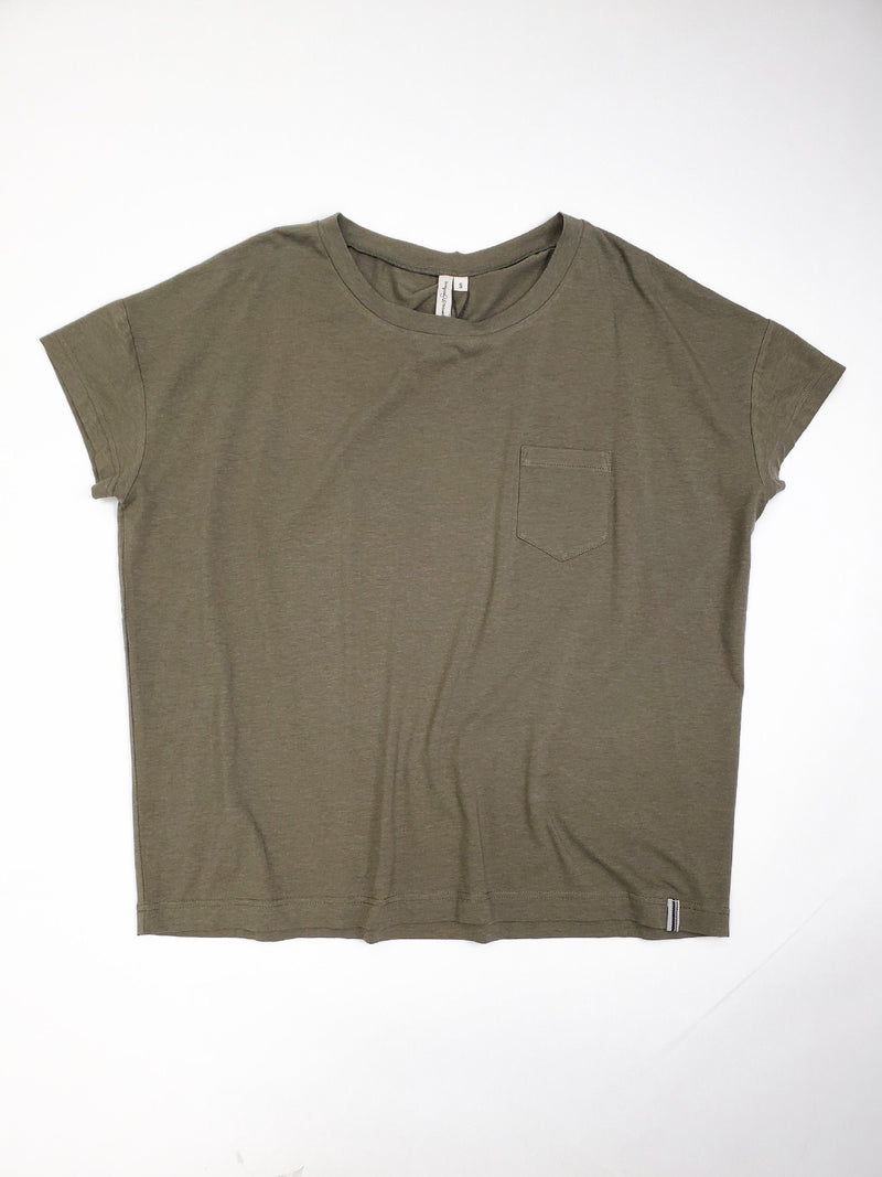 ROAMERS 'Bloque' - Cotton Rayon Blouse 女裝仿絲短袖襯衫