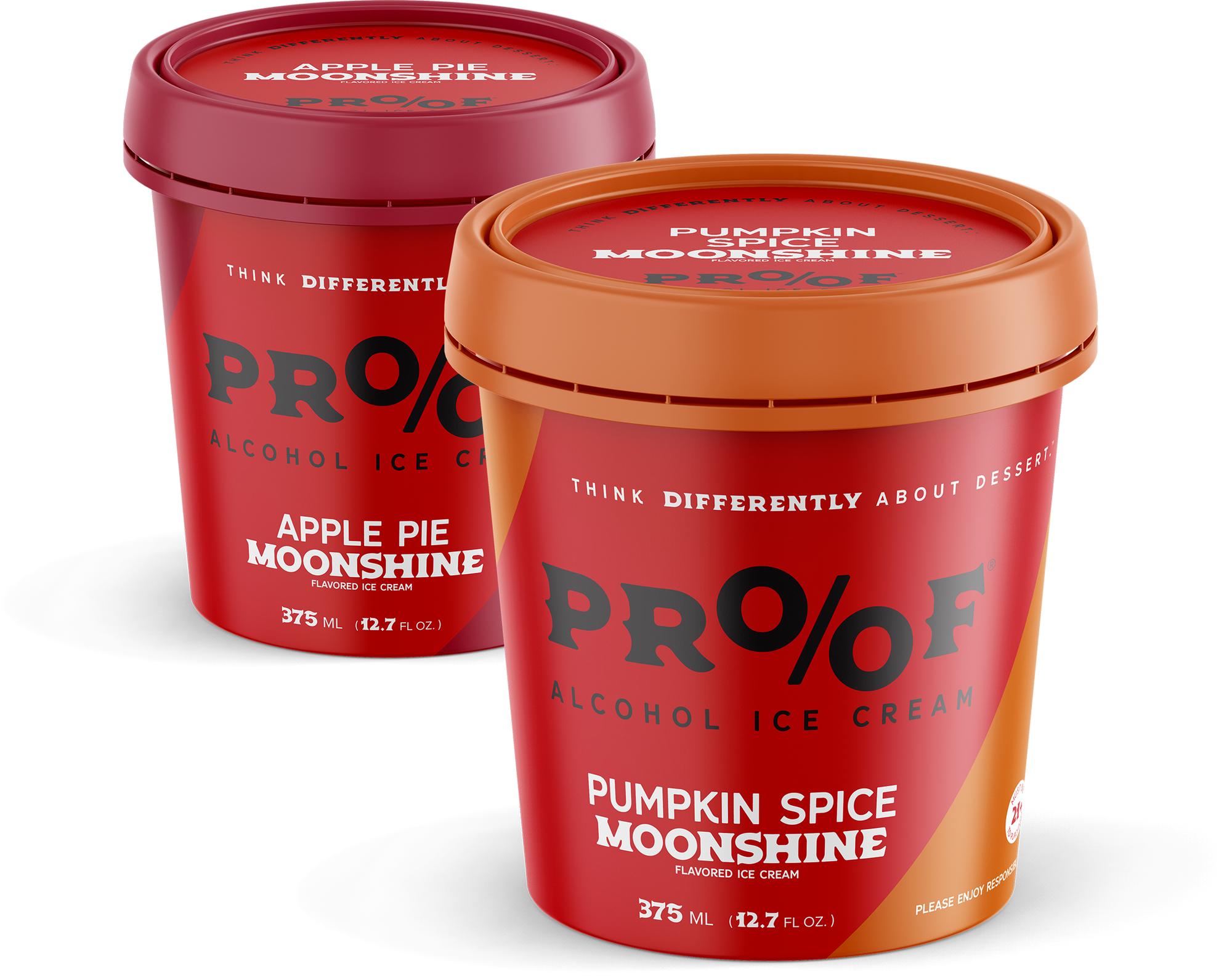 PROOF Alcohol Ice Cream Releases Fall Flavor Favorites Pumpkin Spice & Apple Pie Moonshine
