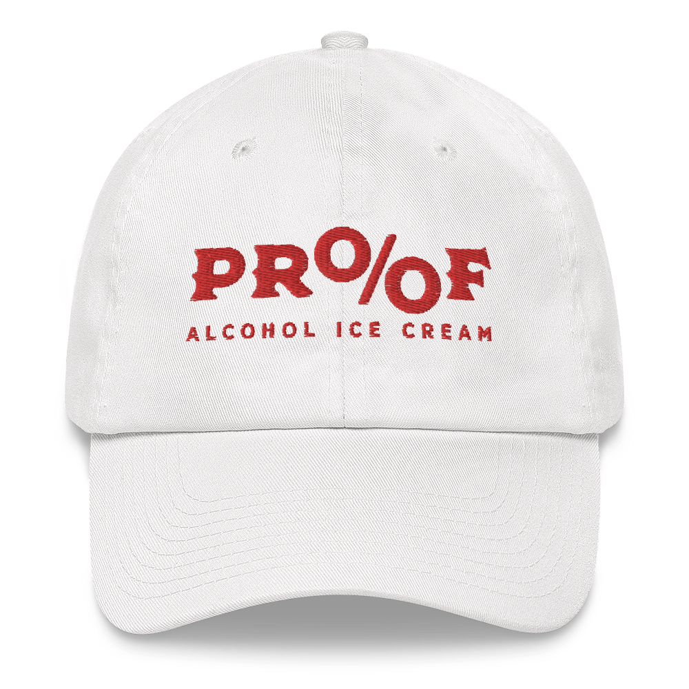 White Twill Hat with PROOF Embroidered