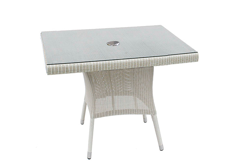 100cm Sussex Square Dining Table - Soft White