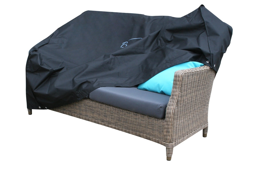 185cm Two Seater Sofa cover - Black