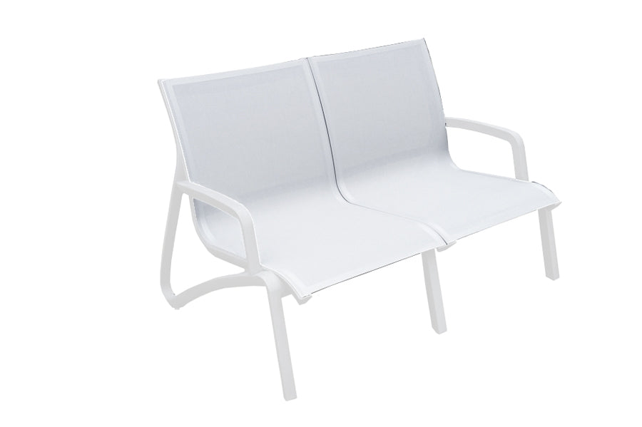 Paris Two Seater Ice/White Sofa with 2 Lounge Armchairs and 100cm Coffee Table