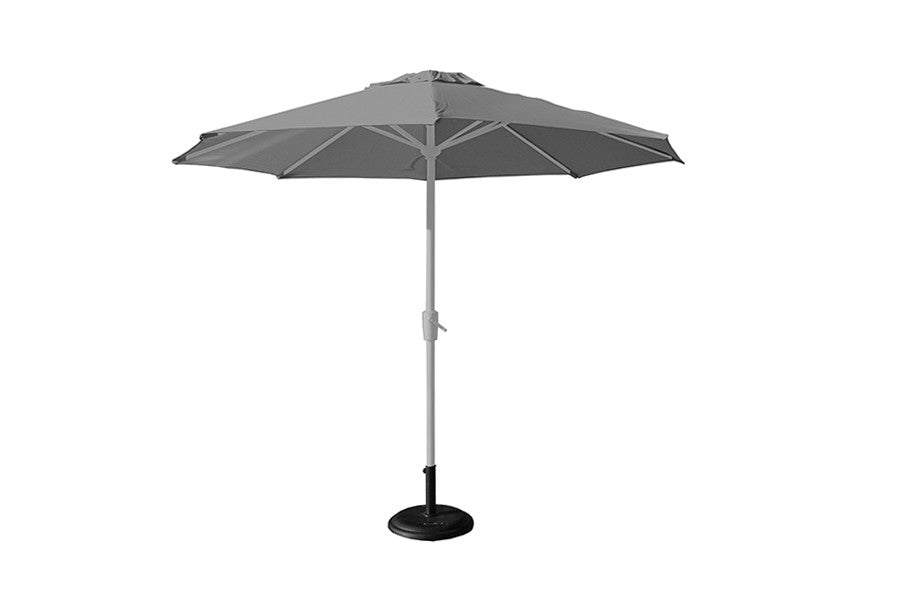 2.5m Deluxe Round Aluminium Parasol - Grey (base not included)