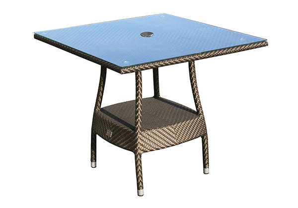 90cm Windsor Square Table with 4 Stacking Armchairs - Bronze
