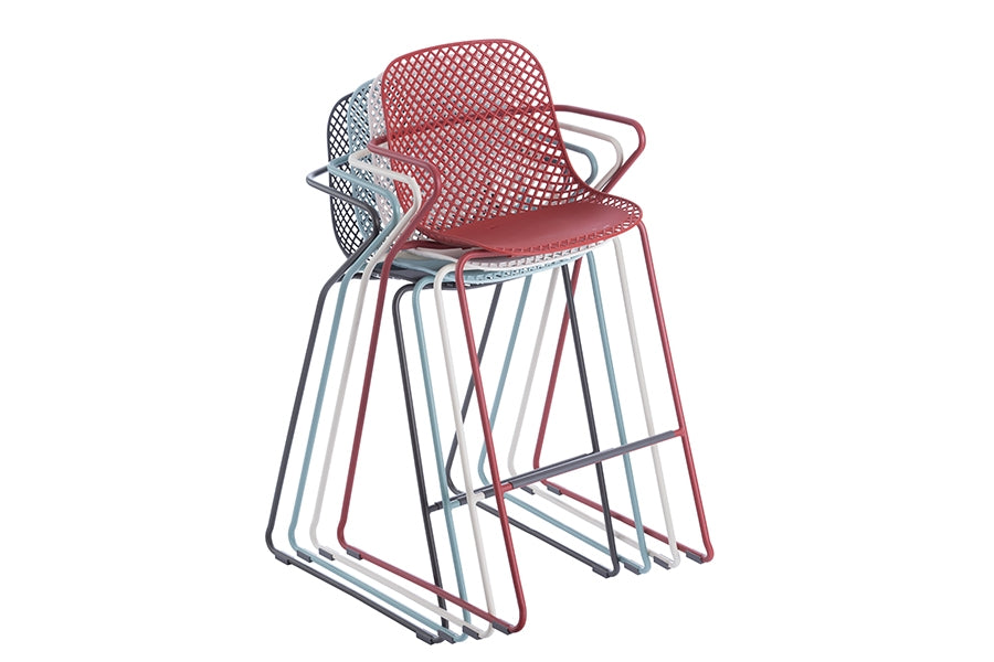 Remy Stacking Bar Stool - Red