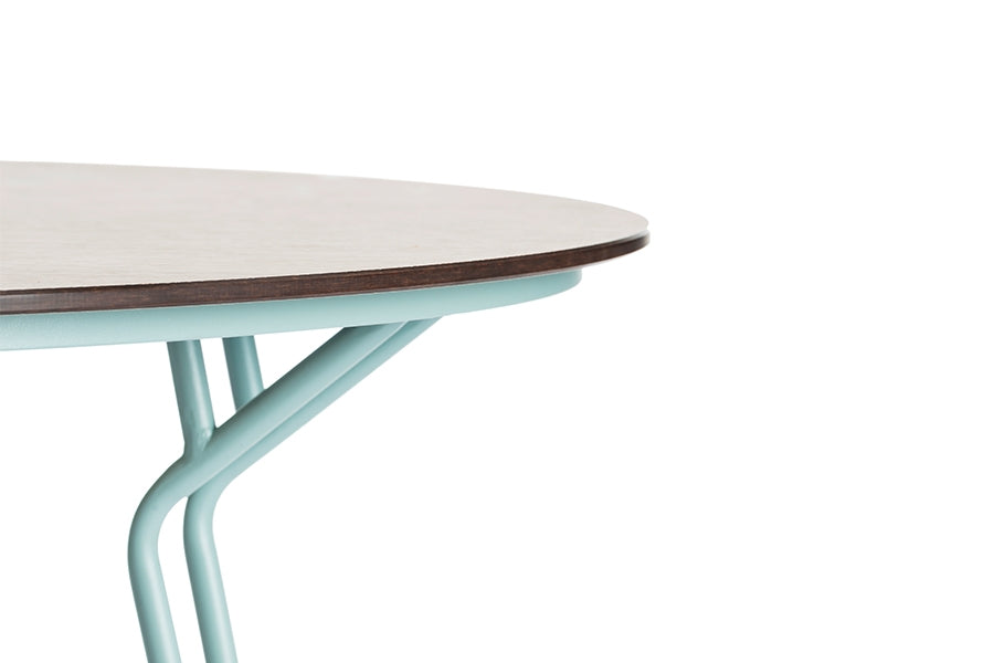 130cm Remy Round Dining Table - Blue/Natural