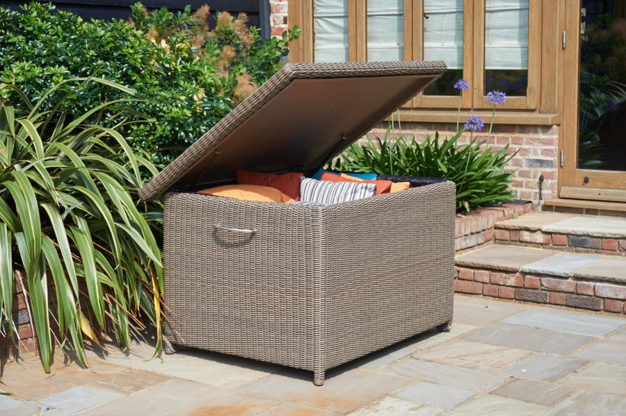 Rattan Cushion Storage Box - Pure