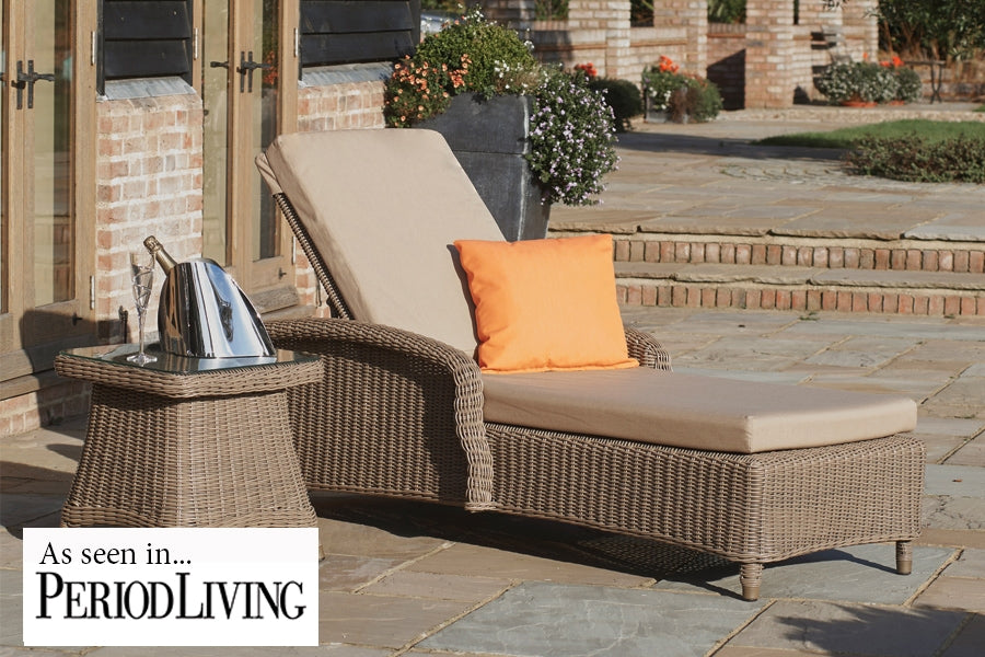 Kensington Sun Lounger with Square Side Table
