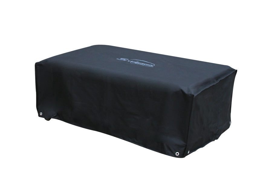 185cm Rectangular Coffee Table Cover - Black