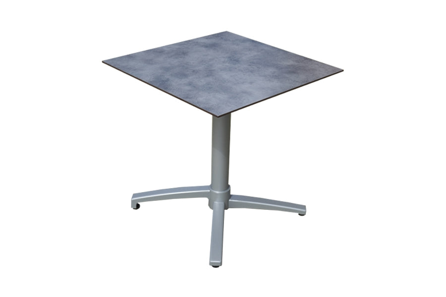 80cm Paris Silver Square Folding Table