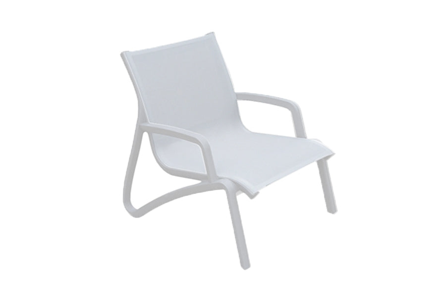 Paris Lounge Armchair - Ice/White