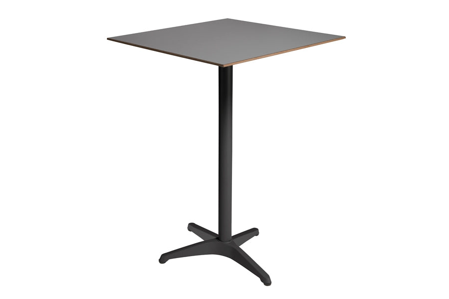 70cm Paris Volcano/Grey Square Bar Table with 2 Bar Stools