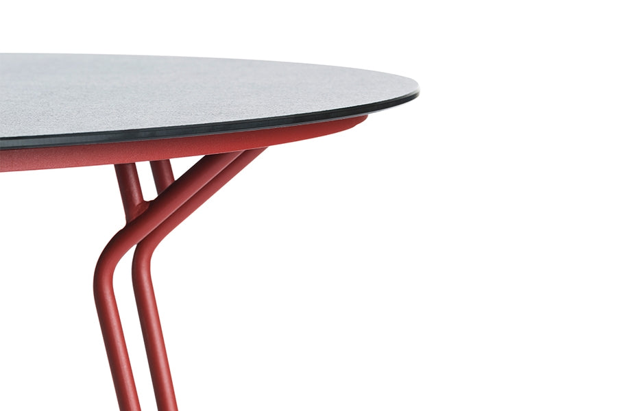 130cm Remy Round Dining Table - Red/Black