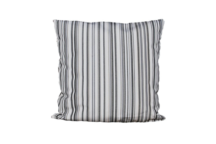 Taupe Striped Waterproof Scatter Cushion