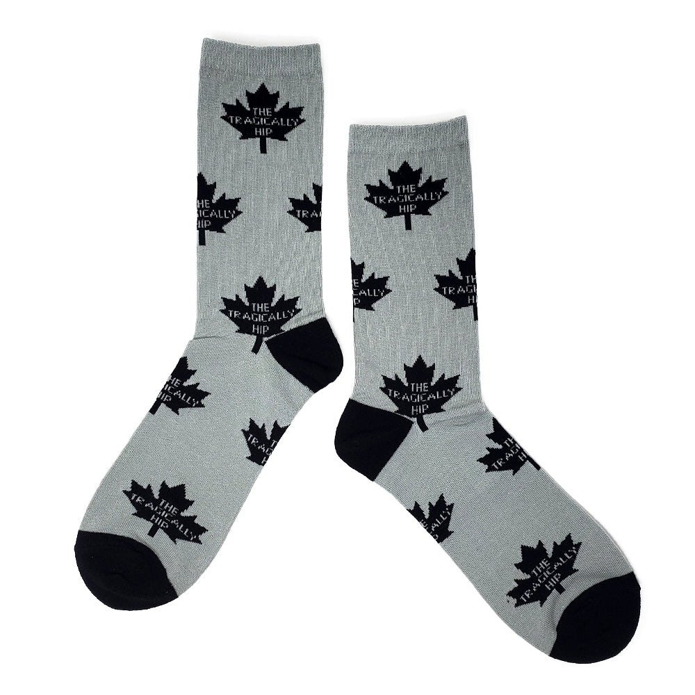 The Hip  Custom Jacquard Knit Socks - Leaf Repeat Logo