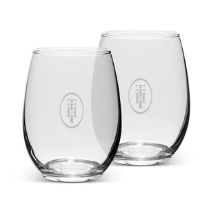 Stemless Wine Glasses: Two Piece Set