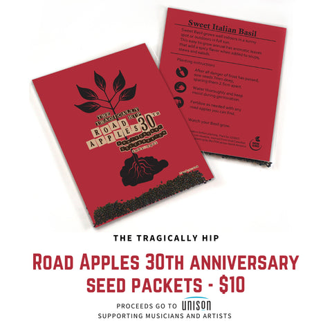 Road Apples 30th Anniversary Seed Packets - Proceeds to Unison Benevolent Fund