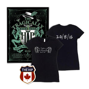 Women's 2016 Kingston Event T-Shirt & Poster with Crest Sticker Bundle