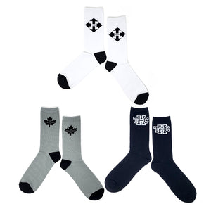 The Hip  Custom Jacquard Knit Socks - Large Single Logo Bundle