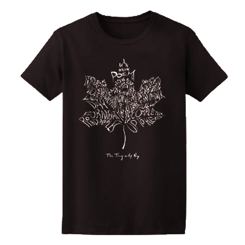 Leaf Album Shirt - Black - Unisex