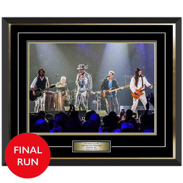 The Tragically Hip photo plaque from Man Machine Poem concert in Kingston