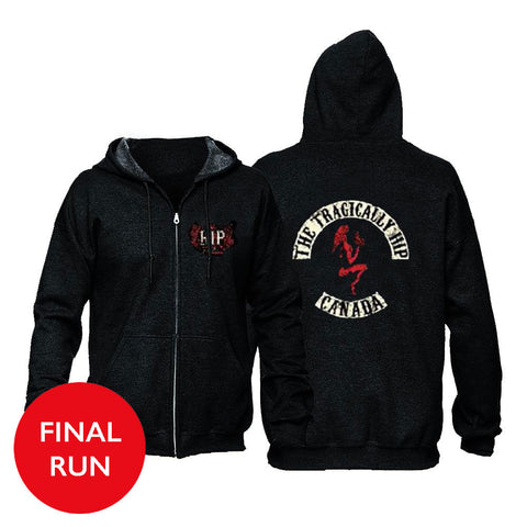 The Tragically Hip Biker Hoodie