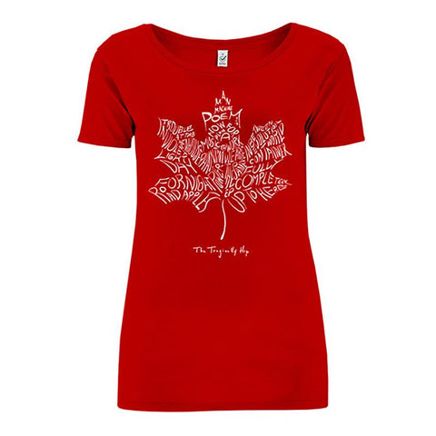 Leaf Album T-Shirt - Red - Women's