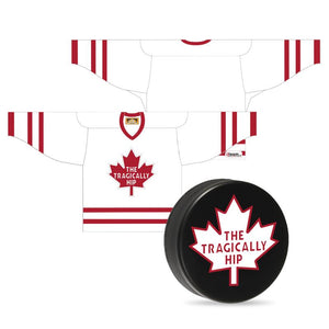 "Bundle: ""Away"" Hockey Jersey & Regulation Puck"