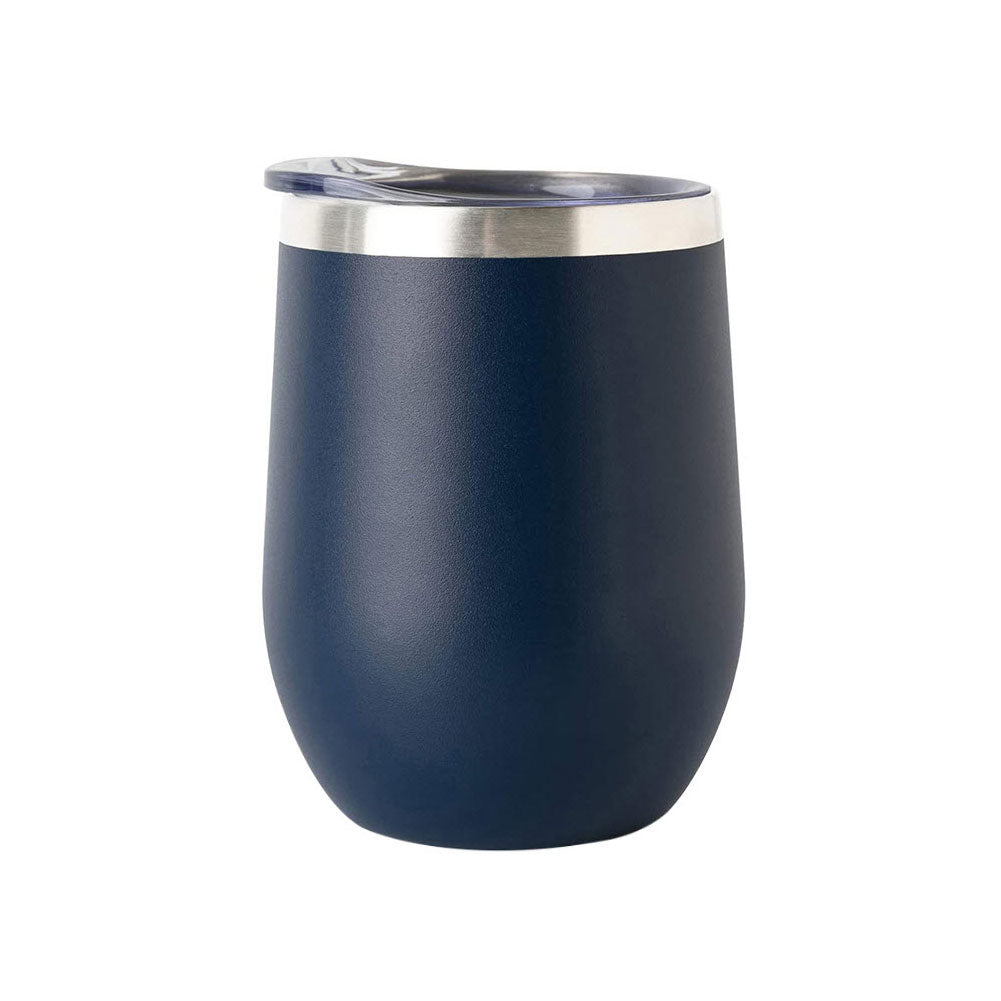 12 oz Insulated Stainless Steel Wine Tumbler Mug With Sip Lid