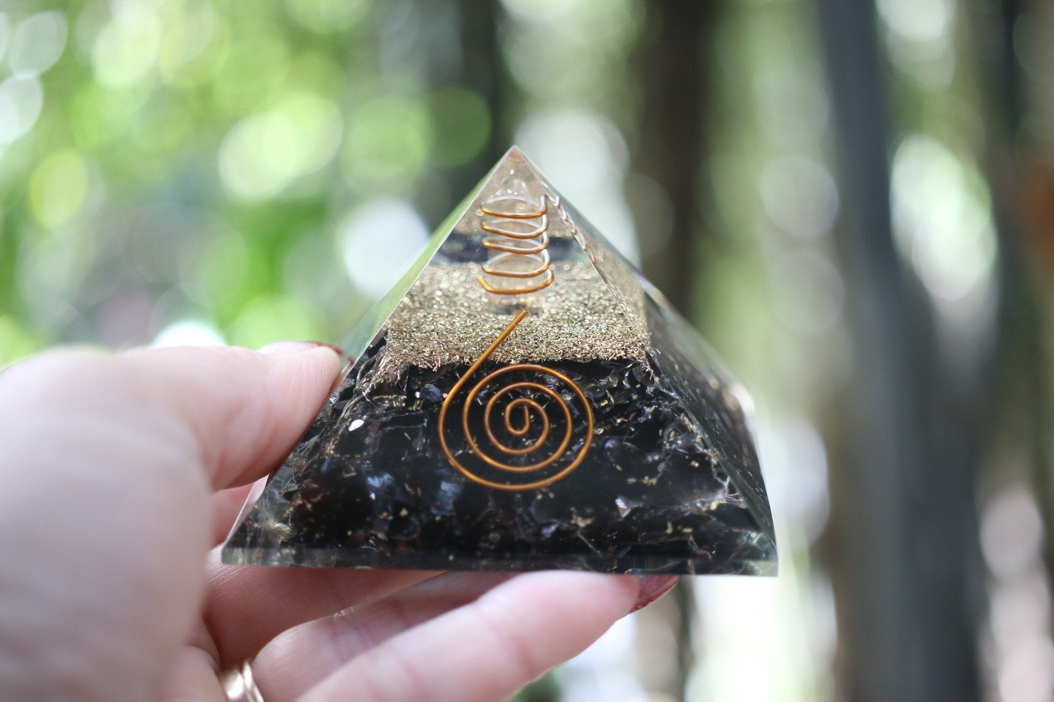 5G Orgonite EMF cellphone protection with MALAQUITE