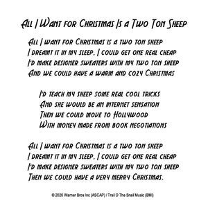 W. Michael Lewis - All I Want for Christmas is a Two Ton Sheep