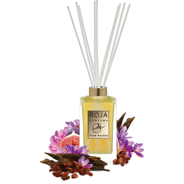 AMBER AOUD REED DIFFUSER POUR MAISON - ROSE FIG & AOUD -