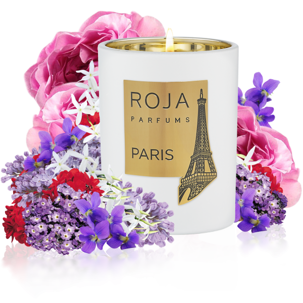 PARIS CANDLE POUR MAISON - ROSE VIOLET & MUSK - DESTINATION