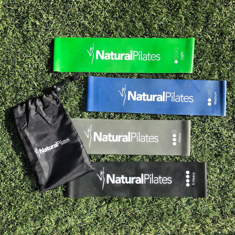 Natural Pilates Resistance Bands (Set of 4)
