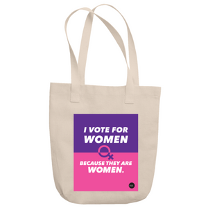 I Vote For Women Tote