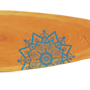 Hand Drawn Mandala by Elisha G one a cherry wood serving board by JL Sons