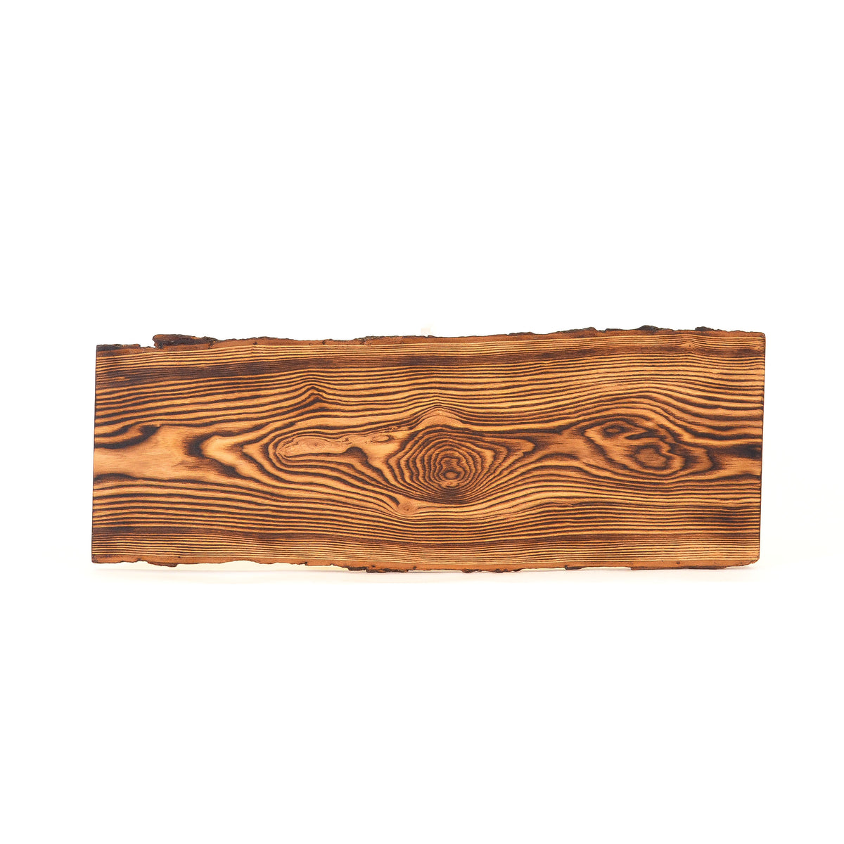 Ash - Flame Torched Serving Board - Bark On