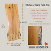 "Maple Kitchen / Dining Table Top: 32"" x 96"" x 2"" Spalted, Canadian Solid One Piece Slab"