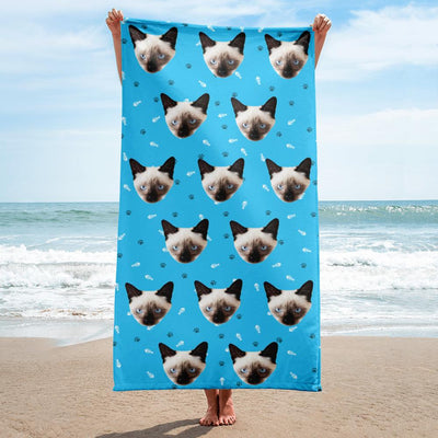 Custom Cat Beach Towel